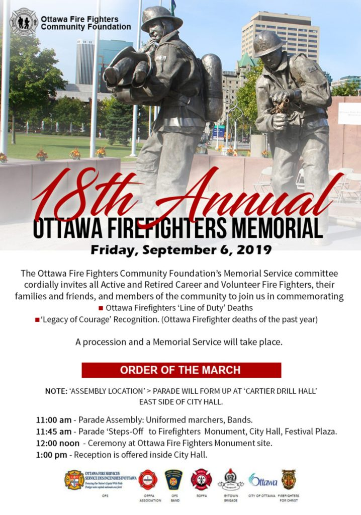 18th Annual Ottawa Firefighters Memorial