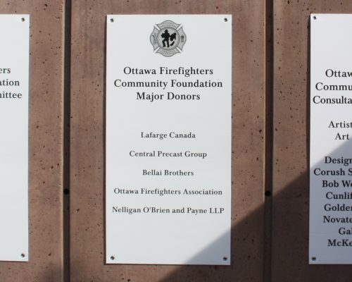 Momument Wall Plaques Directors Builders Donors