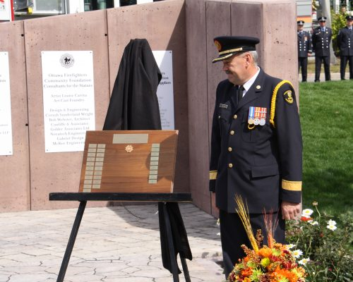 Ontario Fire Marshal with Plaque